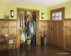 39 Ideas For Front Hallway Closet Organization Entrance Make A Closet, Front Closet, Entry Closet, Simple Closet, Closet Bedroom, Front Hallway, Custom Closet Design, Wardrobe Design, Closet Designs
