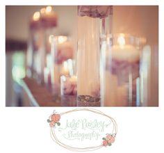 Patrick & Tier | Club Continental Wedding, Jacksonville, FL, Julie Paisley Photography, wedding floating candles, purple flower petals