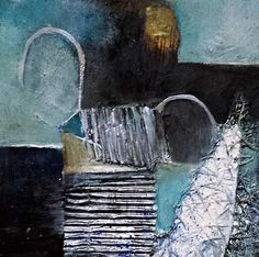 """Renate Horn, """"Serie Materialmic I, : Rhapsody in `Blue"""" (1) Mit einem Klick auf 'Als Kunstkarte versenden' versenden Sie kostenlos dieses Werk Ihren Freunden und Bekannten."""