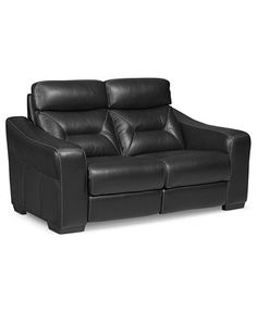 Judson Leather Dual Power Reclining Loveseat...man cave?
