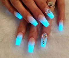 Nice ice blue fade