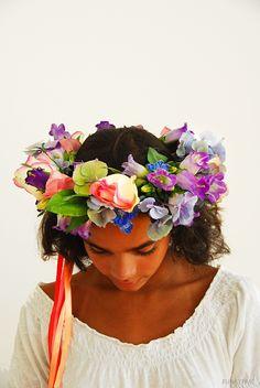 real flowers -crown