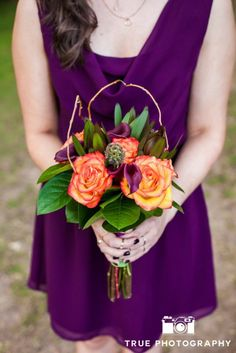 Bold sunset colors for this rustic fall wedding See more here: http://kendrasfloraldesign.com