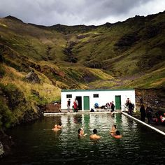Iceland // Europe // swimming pool in the middle of nowhere // modern architecture // paradise // exotic travel destinations // dream vacations // places to go