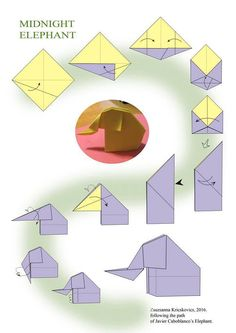 … Origami Diagrams, Origami Animals, Backgrounds, Early Education, Animals, Computer File, Paper Envelopes, Manualidades, Crafting