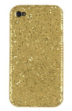 Gold Sparkles Case for Apple iPhone | More here: http://mylusciouslife.com/photo-galleries/bling-fling/
