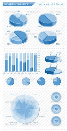 Infographics elements with schedules