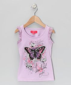 Take a look at this Purple Pretty Butterfly Tank - Toddler & Girls by Funky Diva on #zulily today!