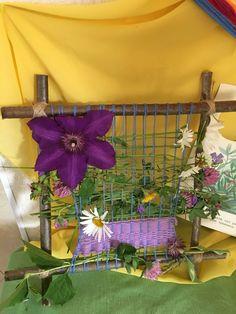 Летнее ткачество с цветами