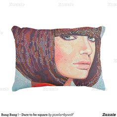 Bang Bang ! - Dare to be square Accent Kussen #zazzle.com #zazzle