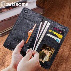 Universal PU Leather Wallet Men / Female / Women Purse Credit Card Holder Phone Bag Case For iPhone Samsung Xiaomi Redmi Case