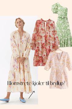 Invitert i bryllup i sommer, men lurer på hvordan kjole du skal ha? Løsningen er enkel: blomstrete kjoler passer ypperlig til de fleste bryllup, og kan i tillegg brukes sommeren lang! Her er våre blomstrete favoritter vi håper på en anledning til å kjøpe.