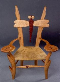 ♈ Dragonfly Versailles ♈ dragonflies in art, photography, jewelry, crafts, home & garden decor - Dragonfly chair Wood Projects, Woodworking Projects, Projects To Try, Funky Furniture, Art Furniture, Dragonfly Decor, Autumn Lights, Butterfly Crafts, Textiles
