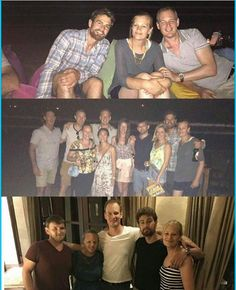 New photos of Theo James with family at his brother's wedding in Greece! Look at him looking so happy! And look at that hair • #theojames