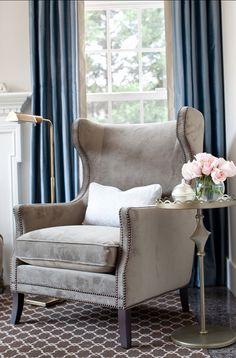 Modern wing chair from Bernhardt