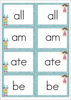 Sight Word Memory Game - FSPDT |Sight Word Memory
