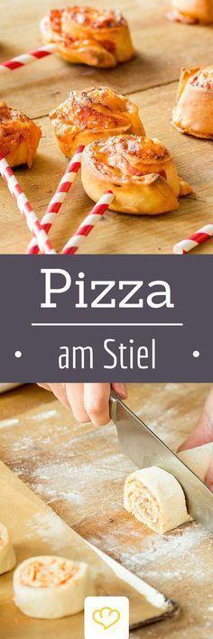 Pizzaschnecken am Stiel - Kindergeburtstags Snack *** Lollipop Pizza for Kids Birthday Party