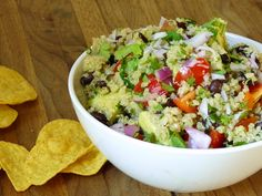 quinoa salad with black beans, avocado, and cumin-lime dressing