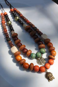 Collier de la Collection Un Air de Zénitude par VieillesSacoches Beaded Necklace, Beaded Bracelets, Air, Creations, Etsy, Collection, Jewelry, Sling Bags, Necklaces
