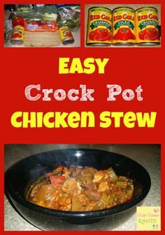 Easy Crock Pot Chicken Stew!