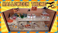Halloween hamster cage tour.  Halloween theme. Хэллоуин 2017