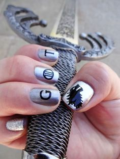 43 Game of Thrones nail art design