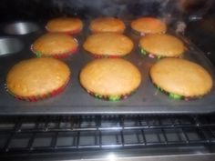 pumpkin muffins!! Made these today with my left over pie filling and topped them with cream cheese icing!