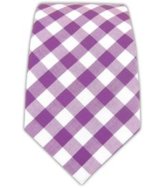Cotton Table Plaid - Plum (Cotton Skinny) | Ties, Bow Ties, and Pocket Squares | The Tie Bar