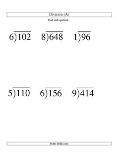 math worksheet : division worksheet  long division  one digit divisor and a  : 2 Digit Divisor Division Worksheets