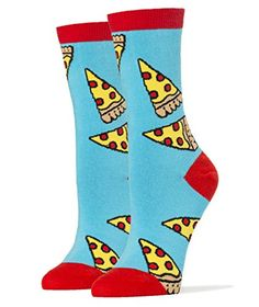 Oooh Yeah Womens Luxury Combed Cotton Crew SocksFunny Food Pizza Party -- Want to know more, click on the image.
