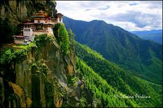The Tiger's Nest is a prominent Himalayan Buddhist sacred site and temple complex, located in the cliffside of the upper Paro valley, Bhutan.