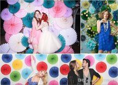 Honeycomb Seidenpapier Fan Pinwheels Dekorative Blumen Papier Handwerk Party Wedding Decor Birthday Babyparty