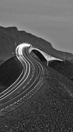 Black and White Atlantic by Magnus Roaldset (Atlantic Road Norway)