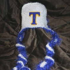 Tahoma Bears hat (back view) Find this hat and more for sale at www.facebook.com/jesslasher Made by One Knotty Mama