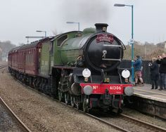The Mayflower at Lydney with the Cathedrals Express