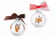 Reindeer Ornament Craft made with thumbprints - Adorable!
