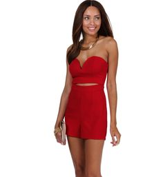 Red Snap, Crackle and Pop It Romper