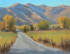 The Road Home by Janet Anderson Oil ~ 14 x 11