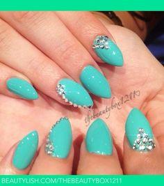 Beautiful summer color nails ..