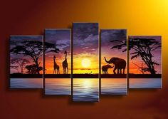 hand painted oil painting, african subject wall art