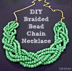 diy braided bead chain necklace