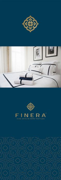 Finera - Branding Design developed for prestigious brand, with solid experience in the textiles market.