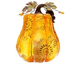 Indoor Outdoor Glazed Resin Harvest Luminary by Home Reflection