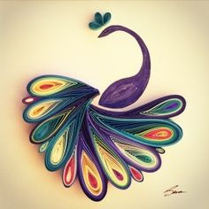 While working a job in HR, Istanbul-based artist Sena Runa discovered the craft of paper quilling. People who quill start by rolling up bits of colorful paper into amazing images, which is exactly what this artist started doing behind her desk. Quilling Images, Paper Quilling Tutorial, Paper Quilling Patterns, Paper Quilling Jewelry, Origami And Quilling, Quilled Paper Art, Quilling Paper Craft, Paper Crafts, Quilled Creations