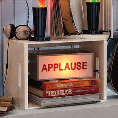 Studio Bedroom Signs  The 'Applause Light Box' Makes Your Room Like SNL #home #decor #interiordesign