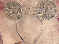 Hey, I found this really awesome Etsy listing at http://www.etsy.com/listing/178207800/disney-veil-minnie-mouse-ears-with-tiara