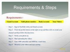 Learn How To Earn Money From YouTube through this complete step to step guide. Here are all the ways of learning - How To Make Money Online, in this blog. Ways To Earn Money, Earn Money Online, How To Make Money, Youtube How To Make, Ways Of Learning, Bank Account, Step Guide, Digital Marketing, Coding