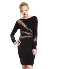 Basix Mesh Illusion Dress