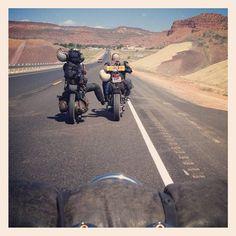 outa gas...biker tow-job