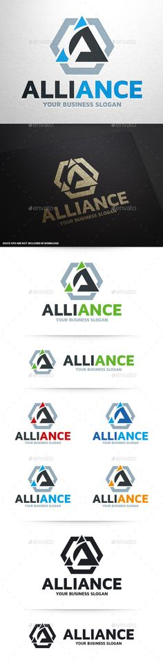 Alliance  Letter A Logo — Vector EPS #letter #web • Available here → https://graphicriver.net/item/alliance-letter-a-logo/10415690?ref=pxcr